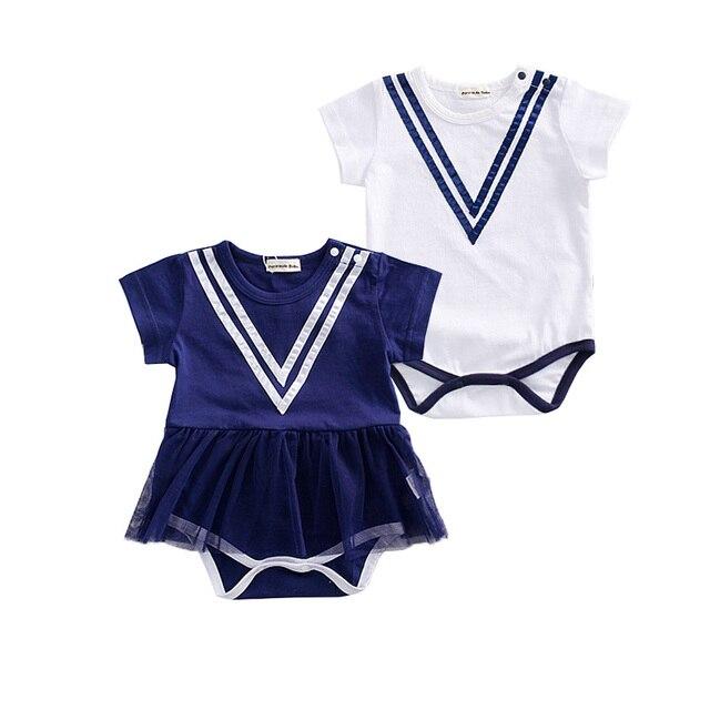 718a93f4a Marinero ropa para bebés niños niñas infantil estilo navy clothing muchacha  del bebé rayada de una