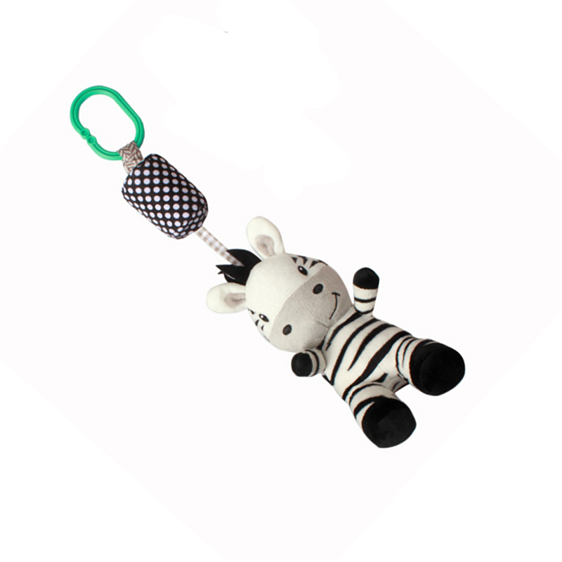 1PC Cute Cartoon Black And White Zebra Stripe Baby Toy Move Baby Bed Pendant With Bell Enlightenment Toy Best Sellig