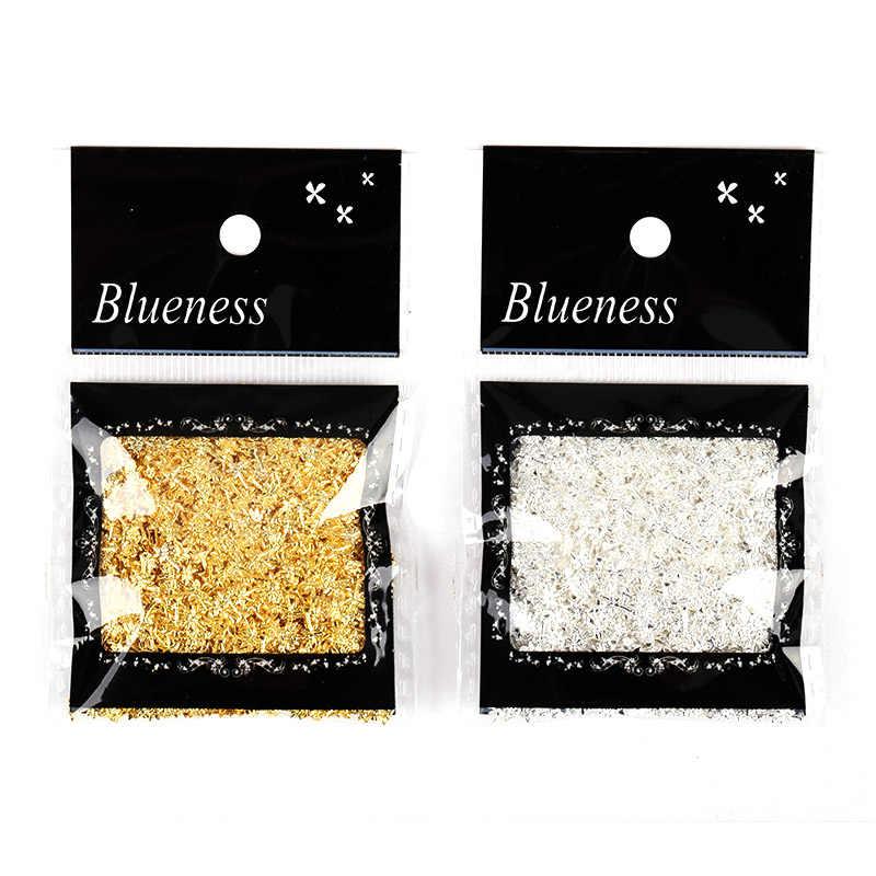 Blueness 1000 piezas tachuelas de cobre de oro mezclado para uñas brillo Metal Scrub Design Charms decoraciones 3D Nail Art PJ549-575