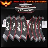 Hornet logo MOTORCYCLE Rim Strips Wheel Stickers Decals For Honda CB599 / CB600 HORNET 1998 2006 2001 2002 2003 2004 2005