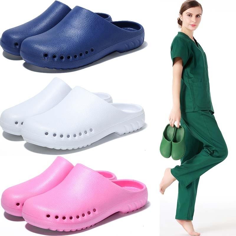 Light Weight Surgical Shoes Nurse Clogs Non-slip Scrub Shoes Surgery Unit Clog Non Strip Doctor Workwear Slip-Resistant Slipper