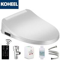 KOHEEL Smart Toilet Seat Washlet Elongated Electric Bidet Cover Intelligent Bidet Toilet Seats Heating Sits Led