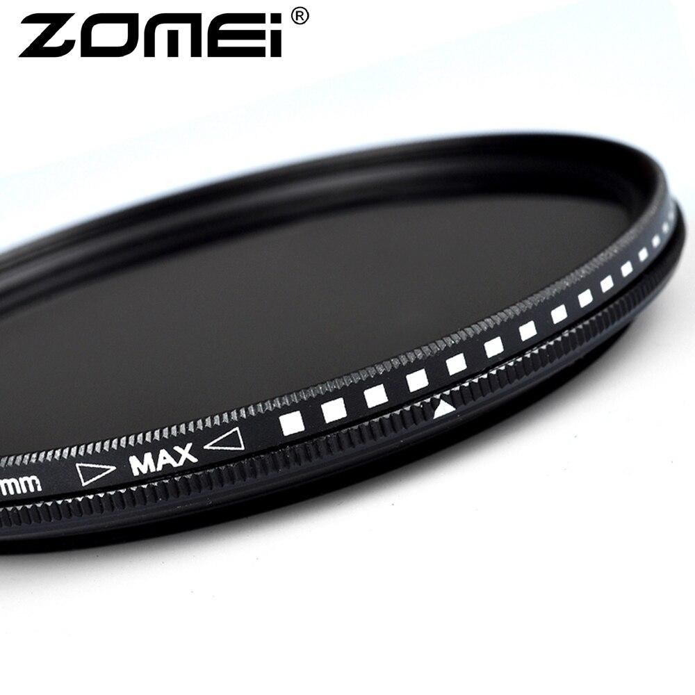 ZOMEI Fader ND2-400 Filtre 1.4mm Mince Ultra-Mince Réglable Variable AGC Optique En Verre Neutre Densité Caméra Objectif 49-82mm