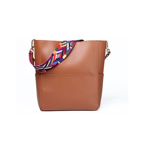 Litchi leather brown