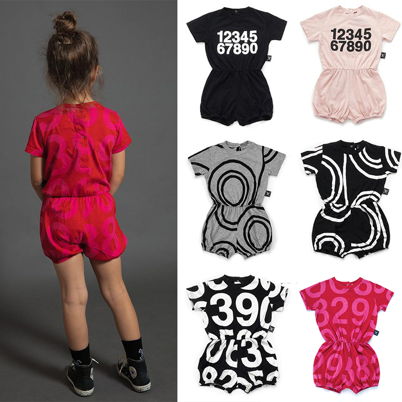 Baby Girl Clothes NU 2019 Summer T-shirt Circle Number Letters Jumpsuit Newborn Romper Kids T-shirt 10YBaby Girl Clothes NU 2019 Summer T-shirt Circle Number Letters Jumpsuit Newborn Romper Kids T-shirt 10Y