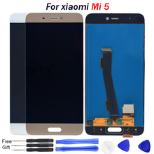 For Xiaomi Mi 5 LCD Display With Touch Screen Digitizer Assembly Replacement Parts For XIAOMI MI5 Display Mi5 M5 Screen repair цена в Москве и Питере