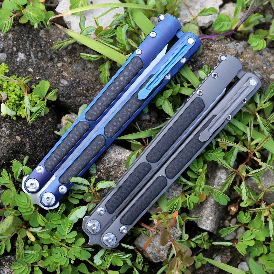 HOT SALE] Stone wash S35VN covenant Butterfly TC4 + CF handle KVT
