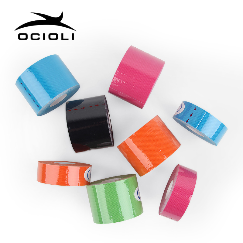2.5cm / 5cm X 5m Cotton Kinesiology Tape Elastic Adhesive Muscle Bandage Physio Cure Injury Support Kinesiology Tape Sport