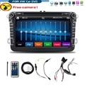 Bosion 8 дюймов 2 din мультимедийные For VW автомобильный DVD GPS навигация аудио камеры тв-плеер для гольф 6 новый поло новый бора JETTA B6 PASSAT SKODA карта