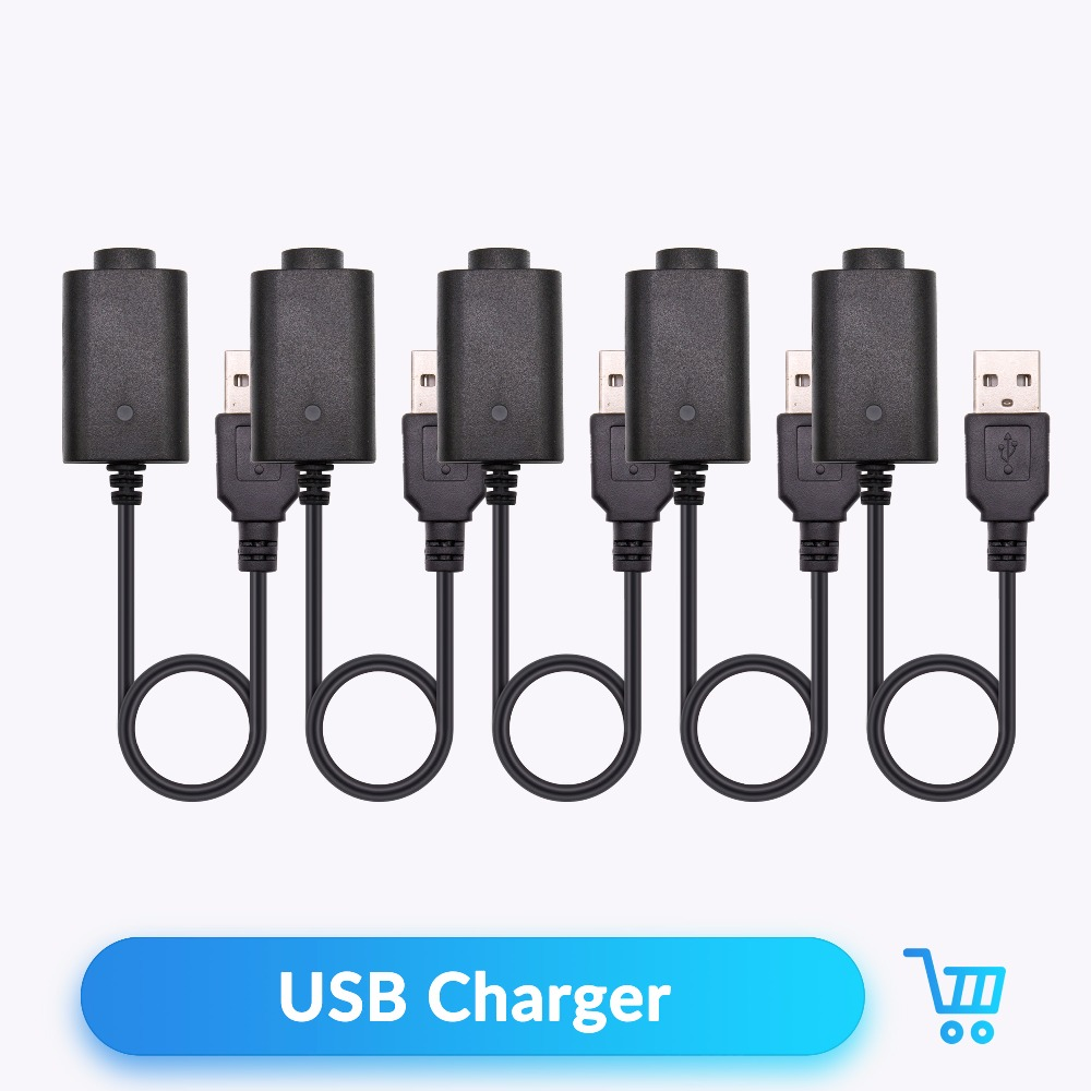 Quartz Banger USB Charger Cable Wire for EGO eGo-T eGo-C eGo-W eGo-F Battery 4.2V Electronic Cigarette Accessories 5pcs/lot
