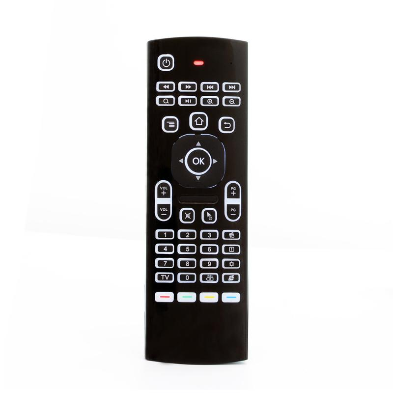 MX3-L 2.4G Wireless <font><b>Air</b></font> <font><b>Mouse</b></font> Keyboard 6-Axis TV Box Remote with Backlight For PC, Android player/ TV box/ IPTV/ projector