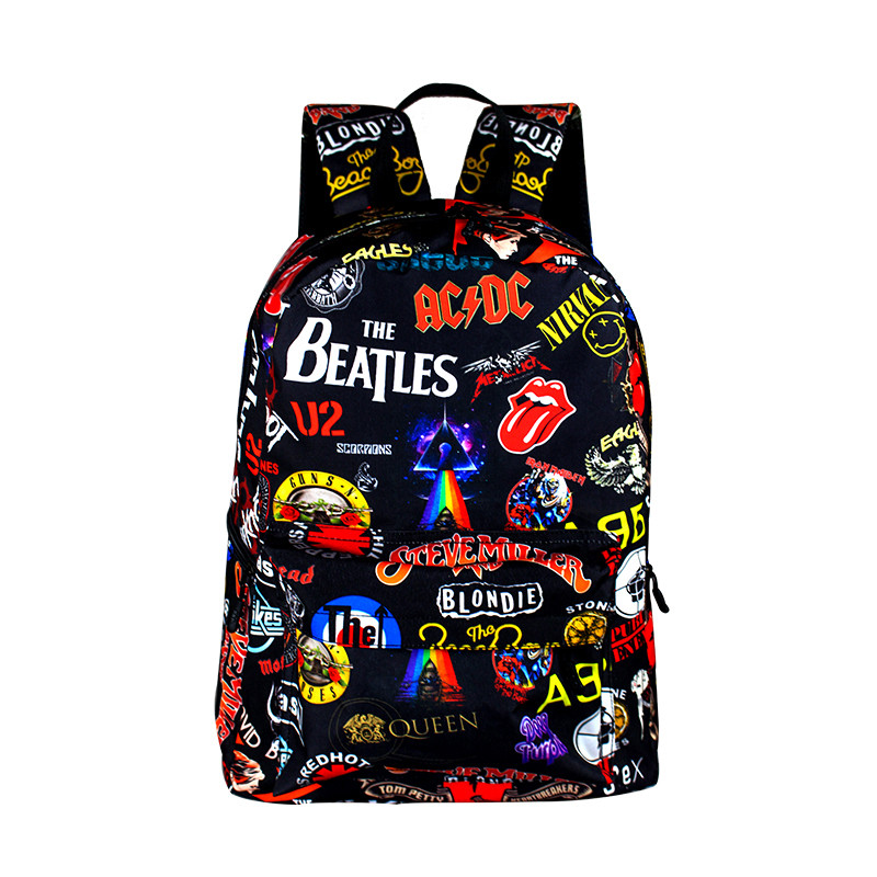 Fashion Rock Backpack Women Hip Hop School Bags Vintage for Teenagers Mens Travel Daypack Cool Students Laptop Backpack cool urban backpack for teenagers kids boys girls school bags men women fashion travel bag laptop backpack