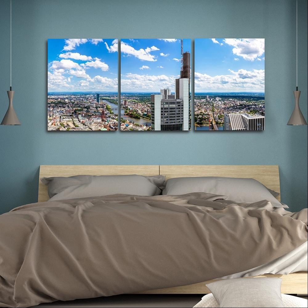 prosperous city Wall Picture Poster Print Canvas Painting Calligraphy Decor for Living Room Bedroom Home Decor Frameless in Painting Calligraphy from Home Garden