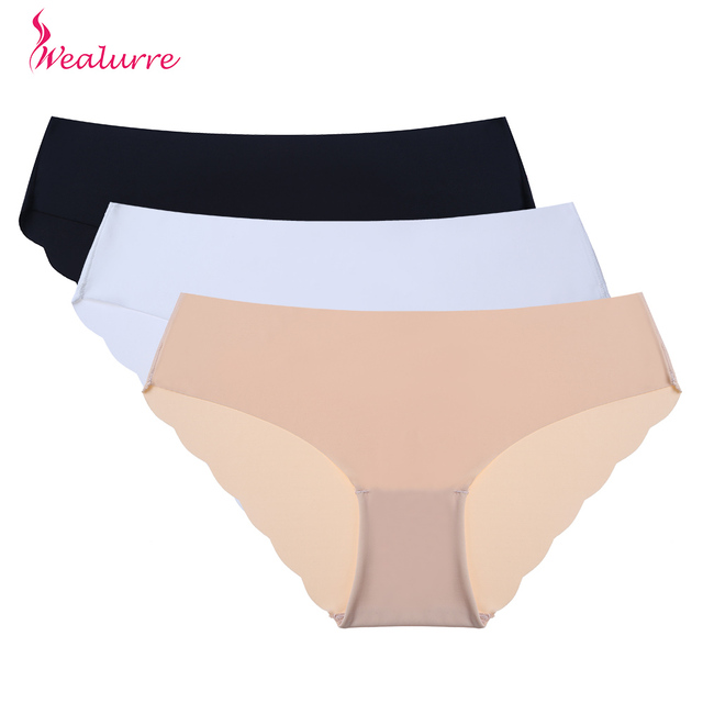 3e6e25d1e Wealurre Briefs for Women Underwear cute Comfortable Panties female  Invisible Non-trace Seamless Pant Girls