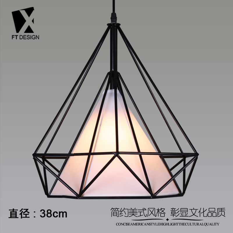 American Wrought Iron Diamond Brief Bird Cage Pendant Light In Lights From Lighting On Aliexpress Alibaba Group