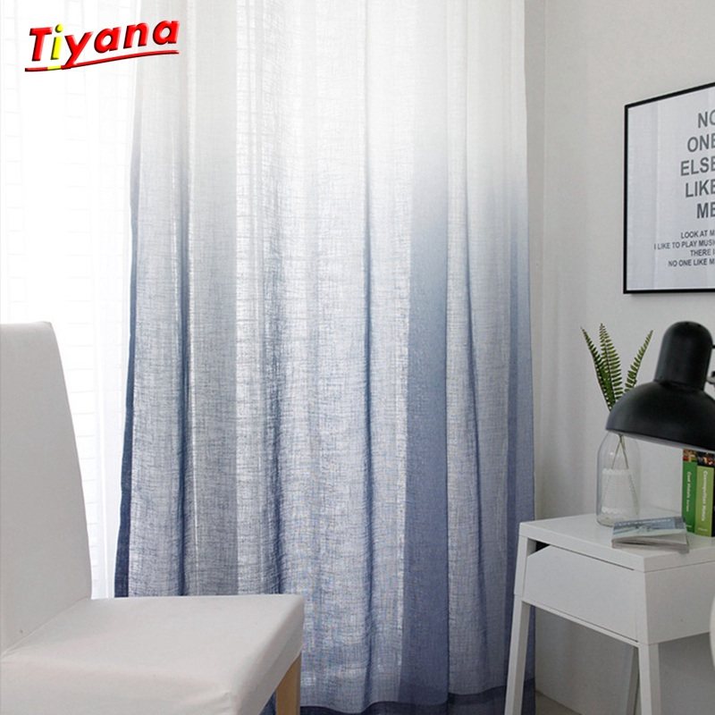 Curtain Tulle for Living Room Bedroom Window High-grade Yarn Gradient Thickening