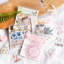 40pcs/set Paper Stickers Cherry Blossoms Diary Sticker for Diy Album Bullet Journal Stationery Scrapbooking Stick Label