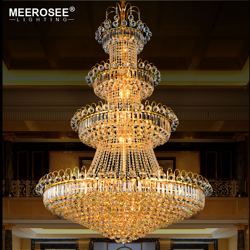 3 tiers luxurious crystal chandelier large european golden hanging 3 tiers luxurious crystal chandelier large european golden hanging lamp classic crystal lustre for hotel lounge home decoratiion in chandeliers from lights aloadofball Choice Image