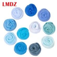 LMDZ 1 шт. 50 г синяя игла для валяния шерсть Натуральная Коллекция мягкое шерстяное волокно для животных швейные проекты кукла рукоделие валяние