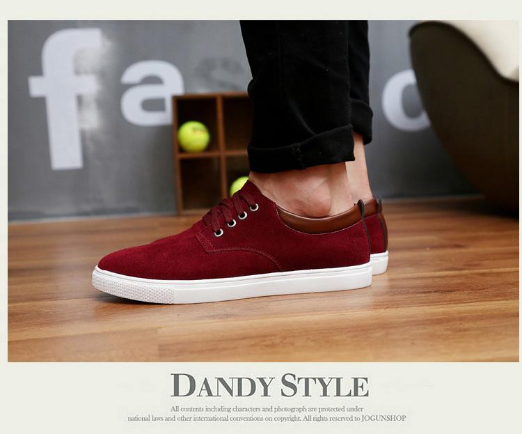 a3a24fb5ac3cfc ... Dwayne Fashion wiosna/jesień zamsz Mężczyźni Buty skórzane casual  oddychające buty mieszkania rozmiar 38- ...