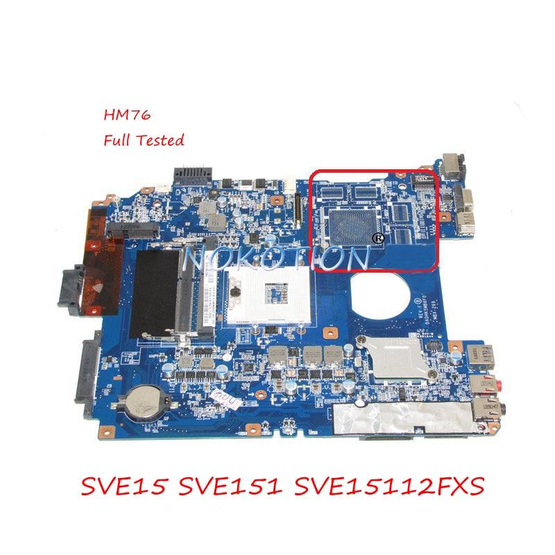 купить NOKOTION Laptop Motherboard MBX-269 For Sony viao SVE15 SVE151 SVE15112FXS DA0HK5MB6F0 A1876097A HM76 UMA DDR3 Main board по цене 5265.73 рублей