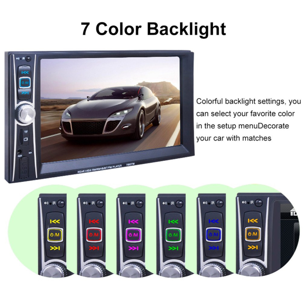 Car Styling Radio Mp5 Player Bluetooth 2 Din 7 inch Professional Touch Screen 1080P Movie Support Rear View Camera  Car Audio 7020g 7 touch screen 2 din car radio dvd mp5 video player rear camera bluetooth gps navigation steering wheel remote control