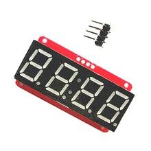 4 значный 7-сегментный 0,56 'светодиодный Дисплей трубки, десятичная система 7 сегментов HT16K33 I2C часы с двойным точки модуль для