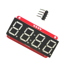 4 Digit 7-Segment 0.56' LED Display Tube Decimal 7 Segments HT16K33 I2C Clock Double Dots Module For Arduino