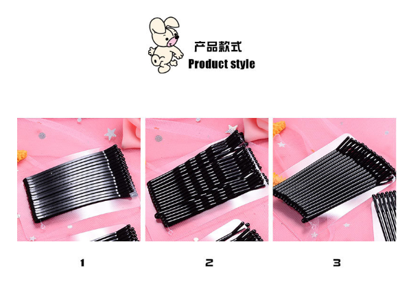 New Arrival 10PCS Hair Accessories Hair Clips For Women Pins Invisible Curly Wavy Grips Salon Barrette Black Barrette