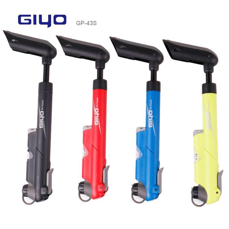 Велосипедный насос Giyo 120PSI, компактный воздушный насос с регулируемой ручкой, многоцветные варианты, оригинальный кронштейн для крепления н...