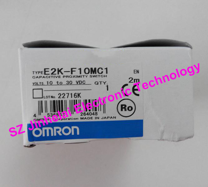100% New and original OMRON CAPACITIVE PROXIMITY SWITCH  E2K-F10MC1  2M  10-30VDC new original proximity switch im12 04bns zw1