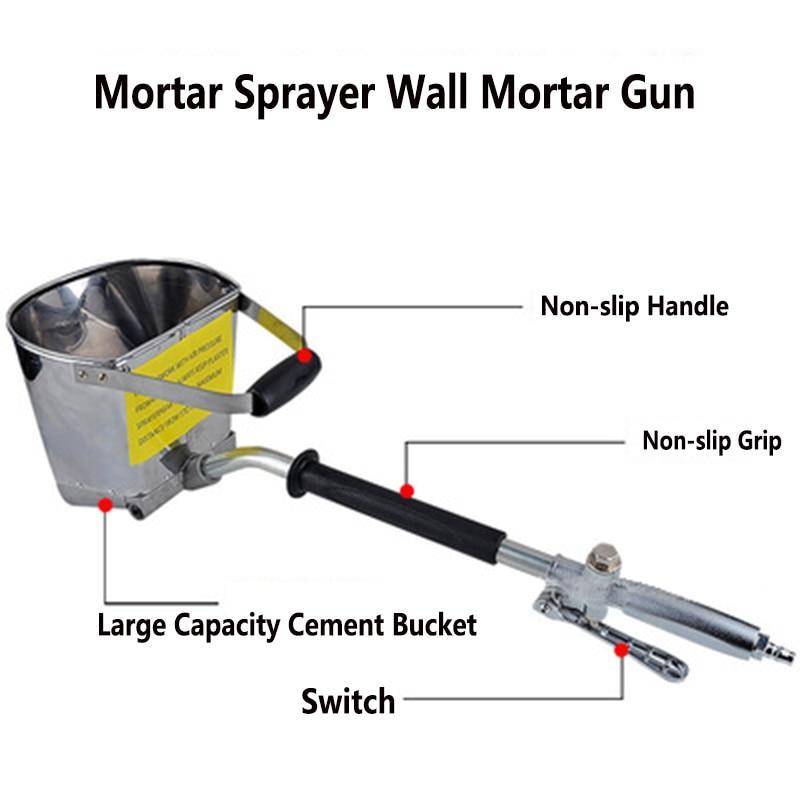 Wall Mortar Cement Spray Gun