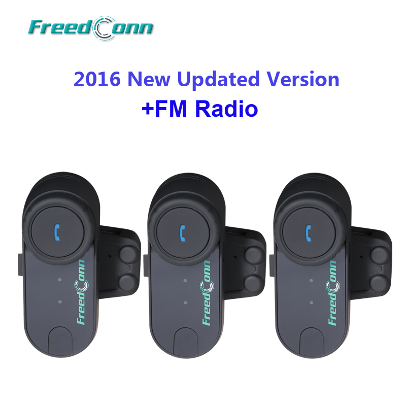 WHOLESALE PRICE!! 3pcs Motorcycle Motorbike BT Bluetooth Multi Interphone Headset Helmet Intercom With FM Radio
