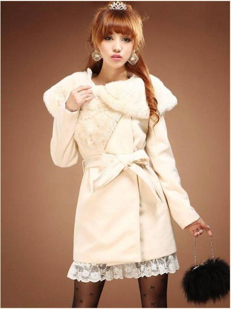 Freeshipping Womens Coat Jacket Fleece Sweater White Winter Wool ...