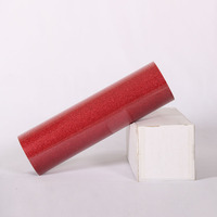 50cm x 25m Glitter Flake Heat Transfer Vinyl Roll for T shirt, Garments Bags and Other Fabrics (Red) Wholesale