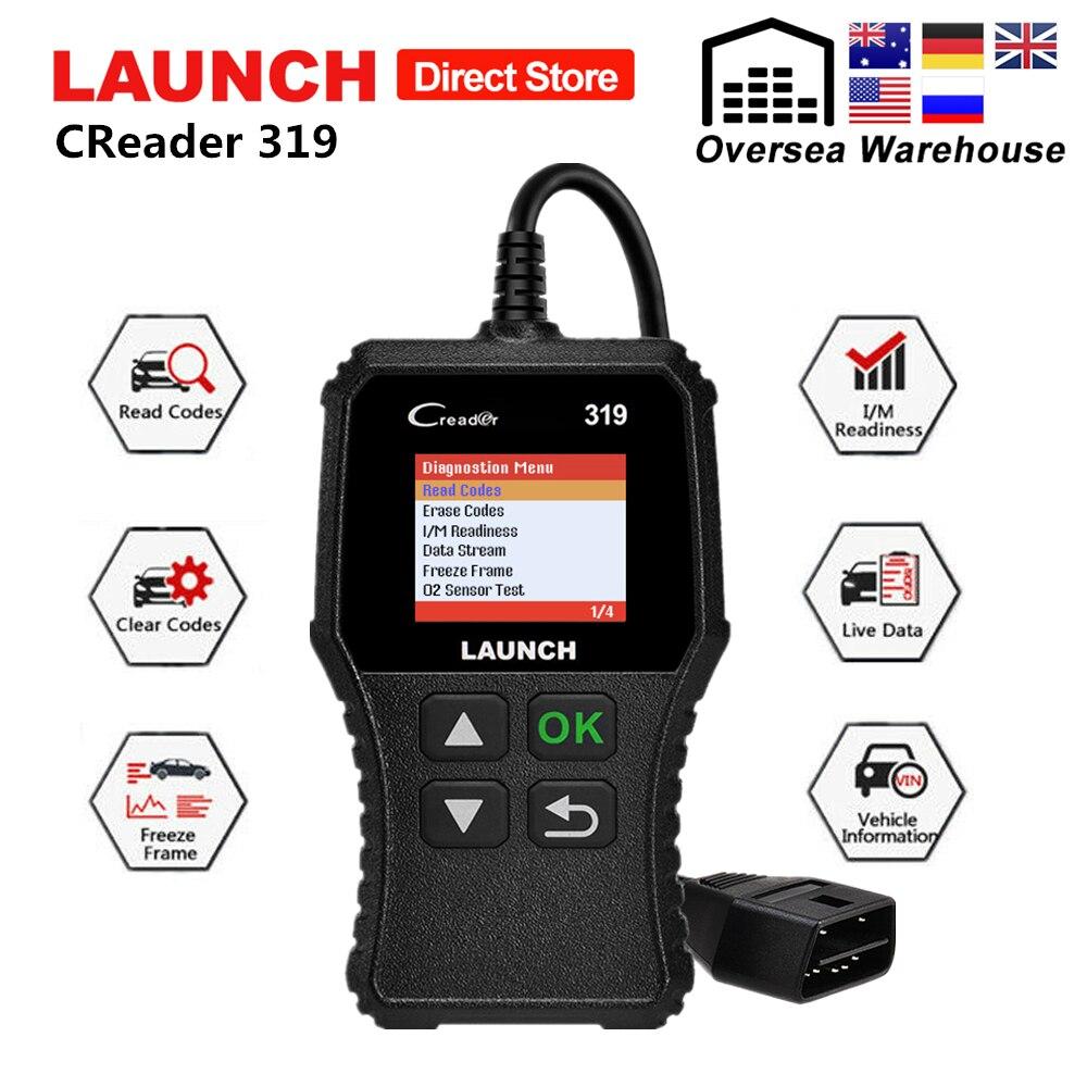 Lançamento Creader 319 OBD2 X431 CR319 2 Do Scanner obd Ferramenta de Diagnóstico Do Carro Leitor de Código de Auto ODB Varredura Carro Ferramentas PK ELM327 OM123 AD310