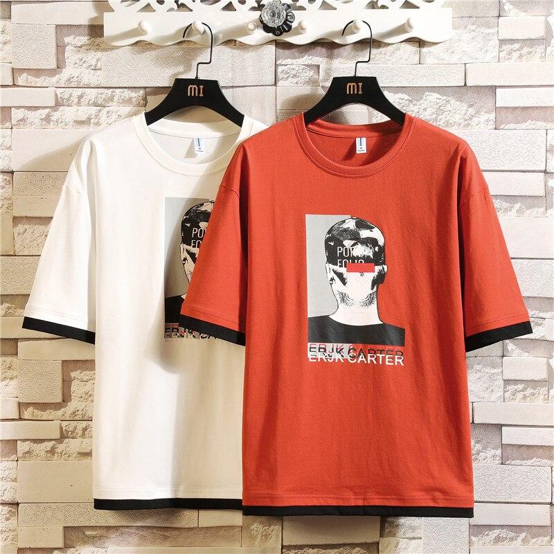 Hommes de T-shirts en coton T-shirts pour hommes d'été 2019 homme T-shirts avec impression de harajuku streetwear top style japonais t-shirt