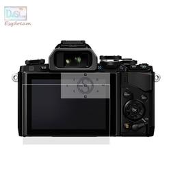 Samoprzylepne szkło hartowane osłona zabezpieczająca ekranu lcd do Olympus OM D E M1 E M5 E M10 Mark II III OMD EM5 EM1 EM10 Camera w Ekrany LCD do aparatu od Elektronika użytkowa na