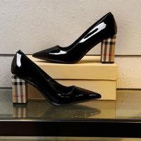 Женские туфли лодочки на высоком каблуке с сеткой, свадебные туфли из коровьей кожи на квадратном каблуке, женские туфли с острым носком, св
