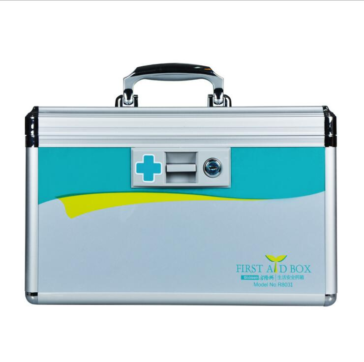 JIAN251--Portable medical first-aid kit 12 inch aluminum alloy home medical kit