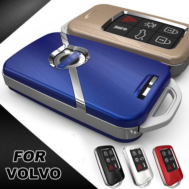 Yüksek kalite araba anahtarı koruma kapağı kılıf VOLVO S60L S80L XC60 S60 V60 araba Styling akıllı anahtar kabuk kapakları