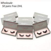 50 pairs free DHL Visofree Eyelashes 3D Mink Lashes Wholesale Handmade Lashes Thick Long False Eyelashes Makeup 40 styles lashes