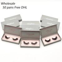 50 pairs free DHL Visofree Eyelashes 3D Mink Lashes Wholesale Handmade Lashes Thick Long False Eyelashes Makeup 40 styles lashes