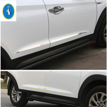 Exterior ! 4 Pcs For Hyundai Tucson 2016 Stainless Steel Side Door Body Molding Cover Trim