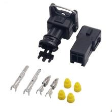 10 шт./набор, EV1 топлива заглушка инжектора автомобиля Водонепроницаемый 2 Pin путь для электрических проводов разъем автомобильного разъема