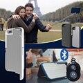 3 em 1 selfie vara case para iphone 6 6 s plus multifuncional dobrável extensível tampa de alumínio com obturador remoto bluetooth