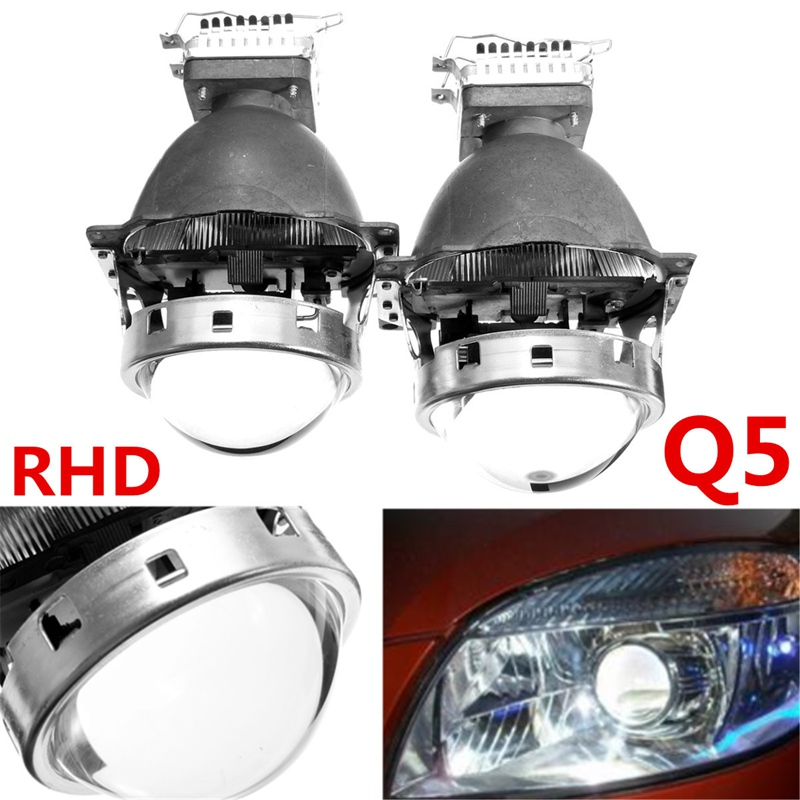 ФОТО Hot Sale Car Styling 3.0 Inch 12V D2S Angel Eye Q5 For HID BI-Xenon Projector Lens Headlight Kit LHD RHD