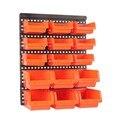 ABS настенный ящик для хранения Запчасти для инструментов гаражный блок стеллажи винт для металлических изделий инструмент для организации ...
