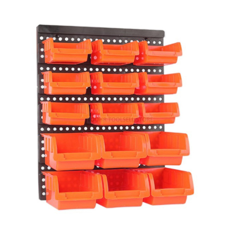 ABS Wall-Mounted Storage Box Tool Parts Garage Unit Shelving Hardware Screw Tool Organize Box Components Tool Box