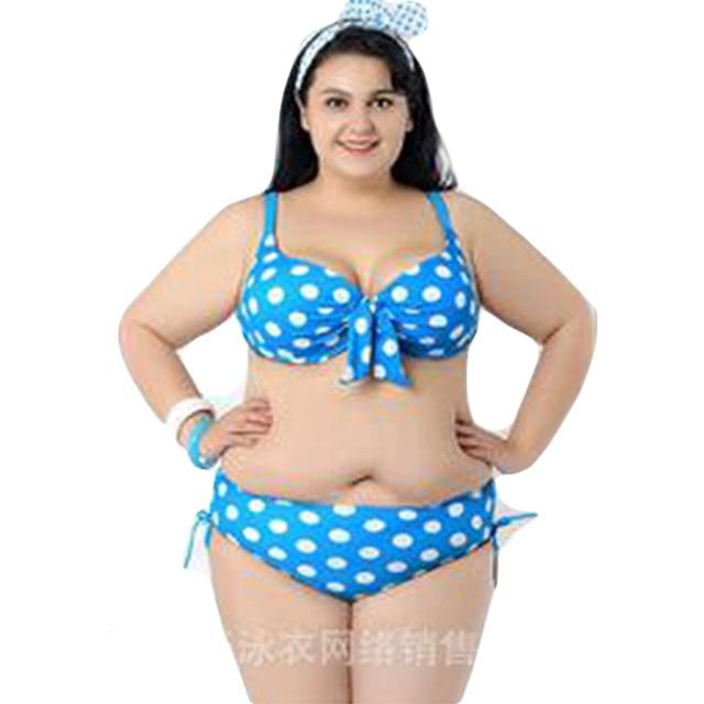 Pinup Vintage Dot Plus Size Bikini Alla Moda Costumi Da Bagno Triangolo  Push Up Bikini Brasiliano Biquinis Reggiseno Senza Fodera Imbottiture DA745  in ...